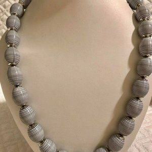 Nakamol Striped Beaded Necklace #22 DISPLAY